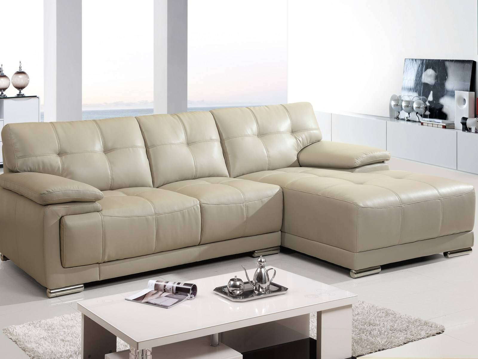 ▻ Sofa : 27 Cool With White Leather Sectional Sleeper Sofa S3Net within Cool Sofa Ideas (Image 26 of 30)