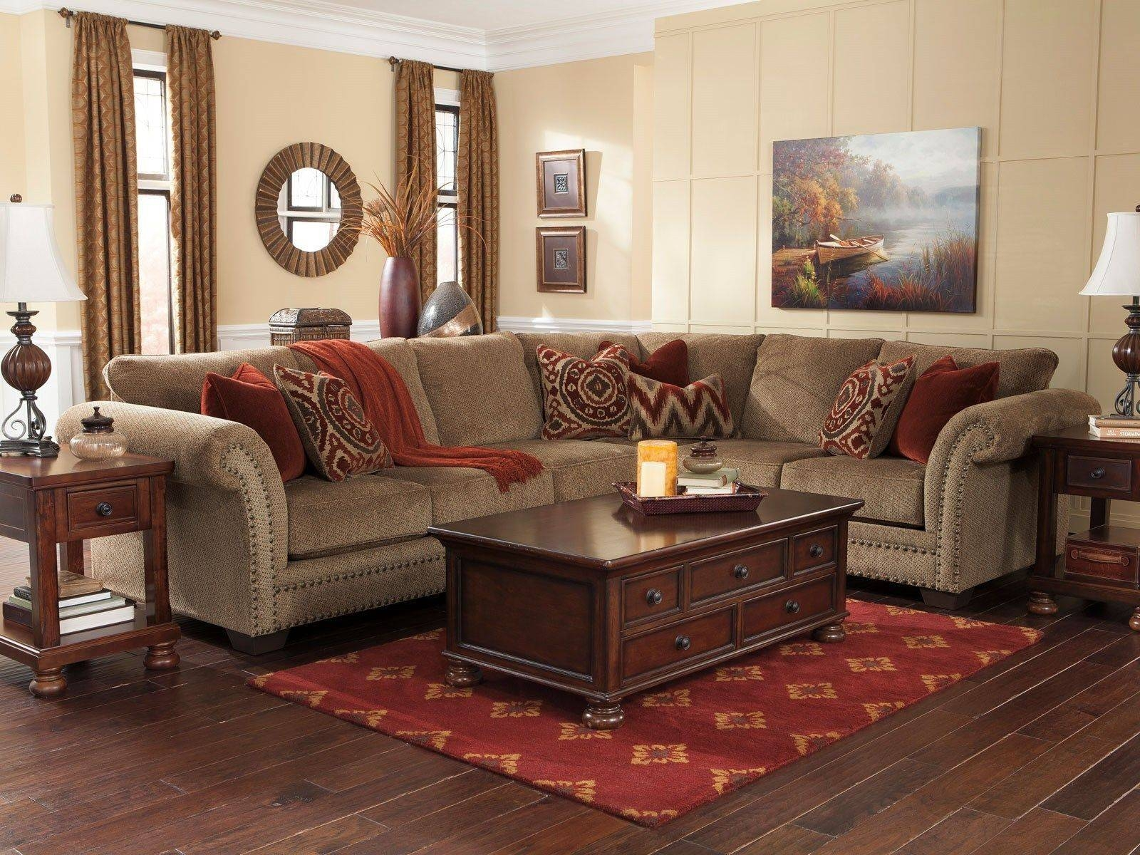 ▻ Sofa : 36 3Pcs Tan Chenille Sofa Couch Sectional Set Living throughout Chenille Sectional Sofas (Image 30 of 30)