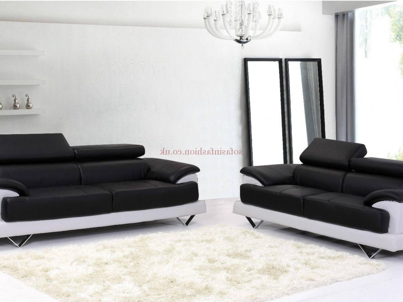 ▻ Sofa : 8 Leather Sofa Set Black And White Cosmo Sofas In for Black And White Sofas (Image 29 of 30)