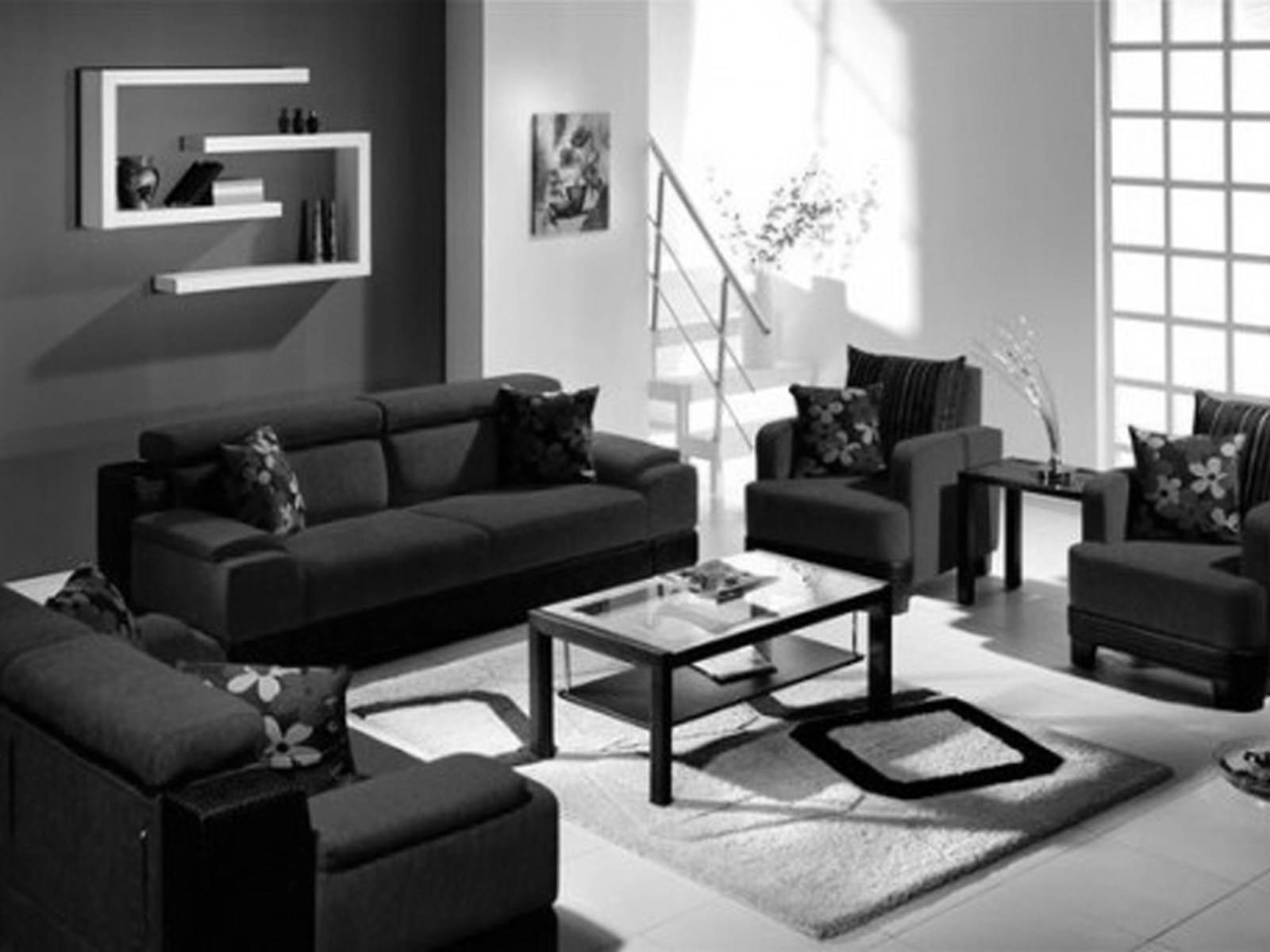 ☆▻ Sofa : 22 Contemporary Black Leather Living Room Set Black for White And Black Sofas (Image 29 of 30)
