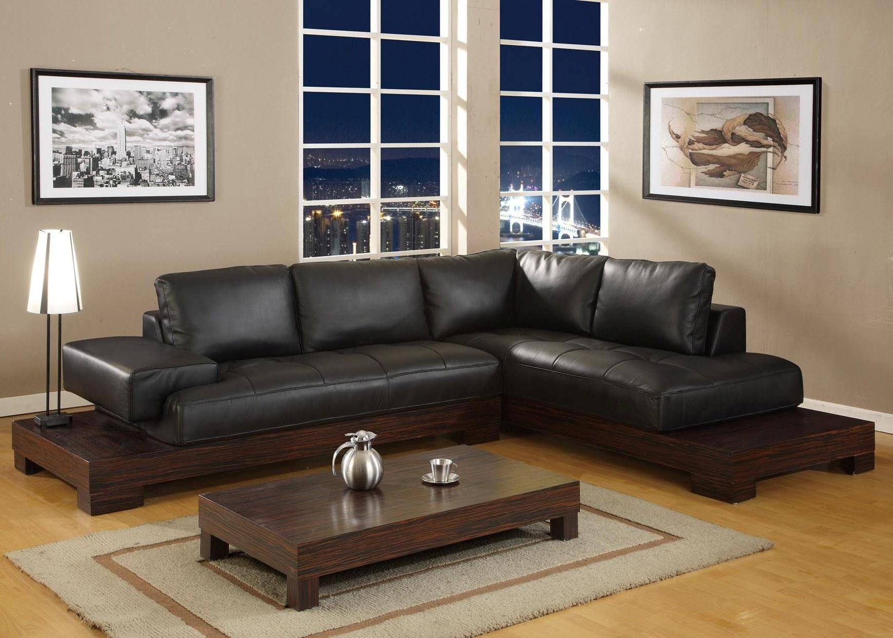 ☆▻ Sofa : 22 Contemporary Black Leather Living Room Set Black with Contemporary Black Leather Sofas (Image 30 of 30)