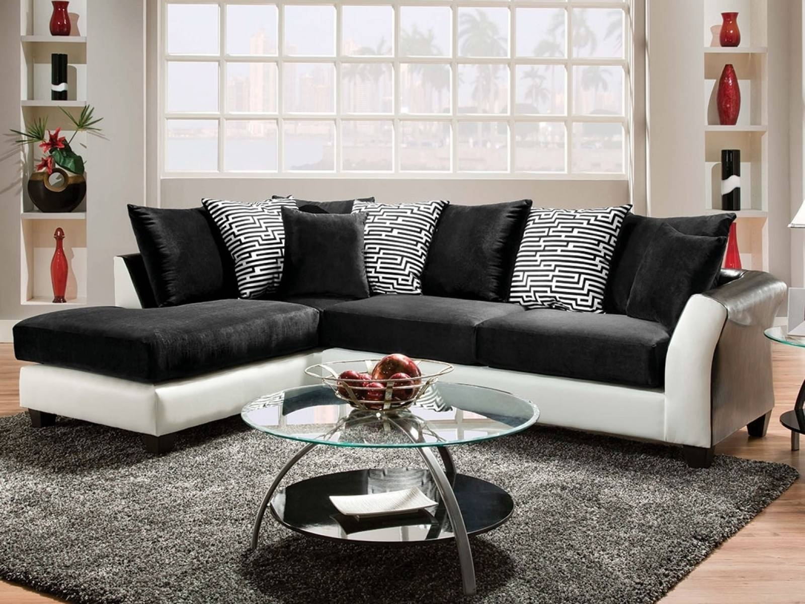 ☆▻ Sofa : 28 3032C2 Inside 89 Wonderful Black And White Sofa Set pertaining to Black And White Sofas (Image 30 of 30)