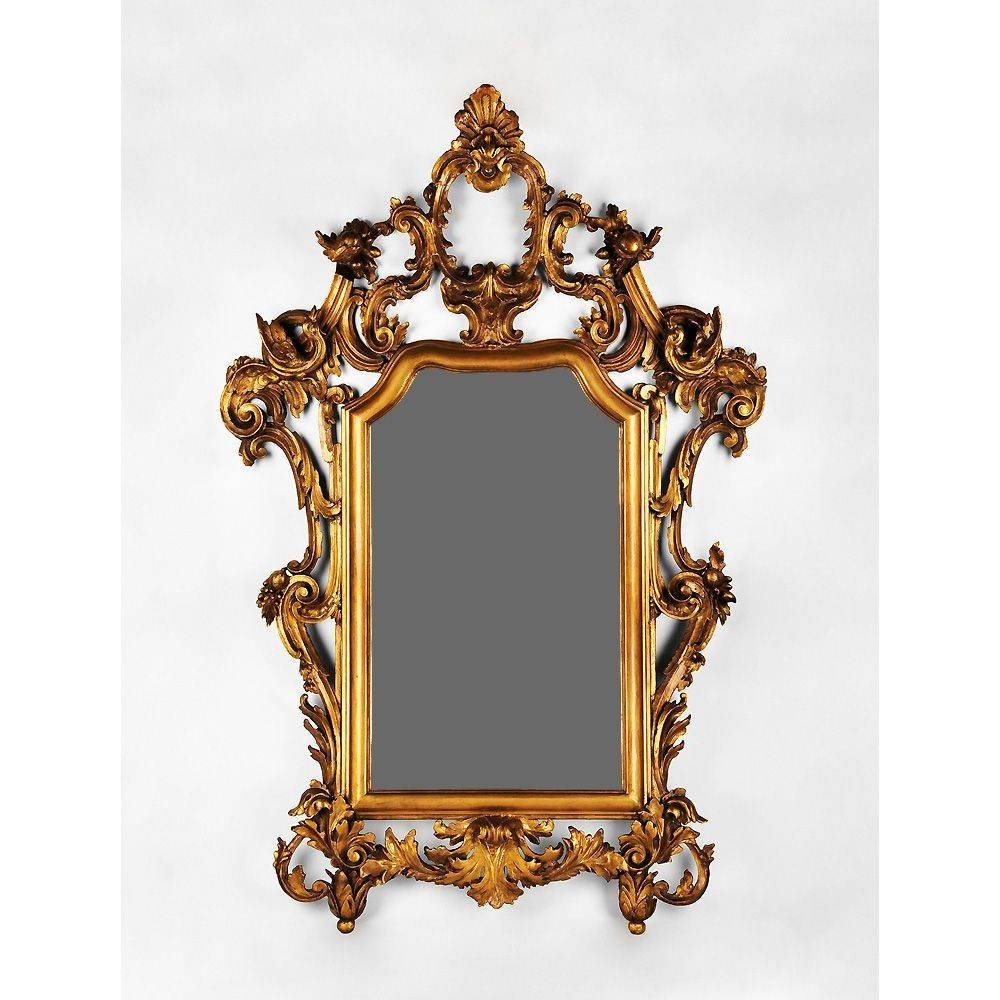 Early 19Th Century Hand Carved Italian Giltwood Rococo Mirror From within Rococo Mirrors (Image 9 of 25)