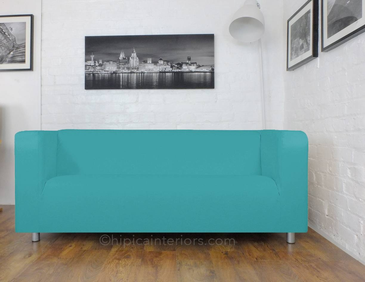 Easy Fit Klippan Sofa Covers - Turquoise - Hipica Interiors within Turquoise Sofa Covers (Image 5 of 30)