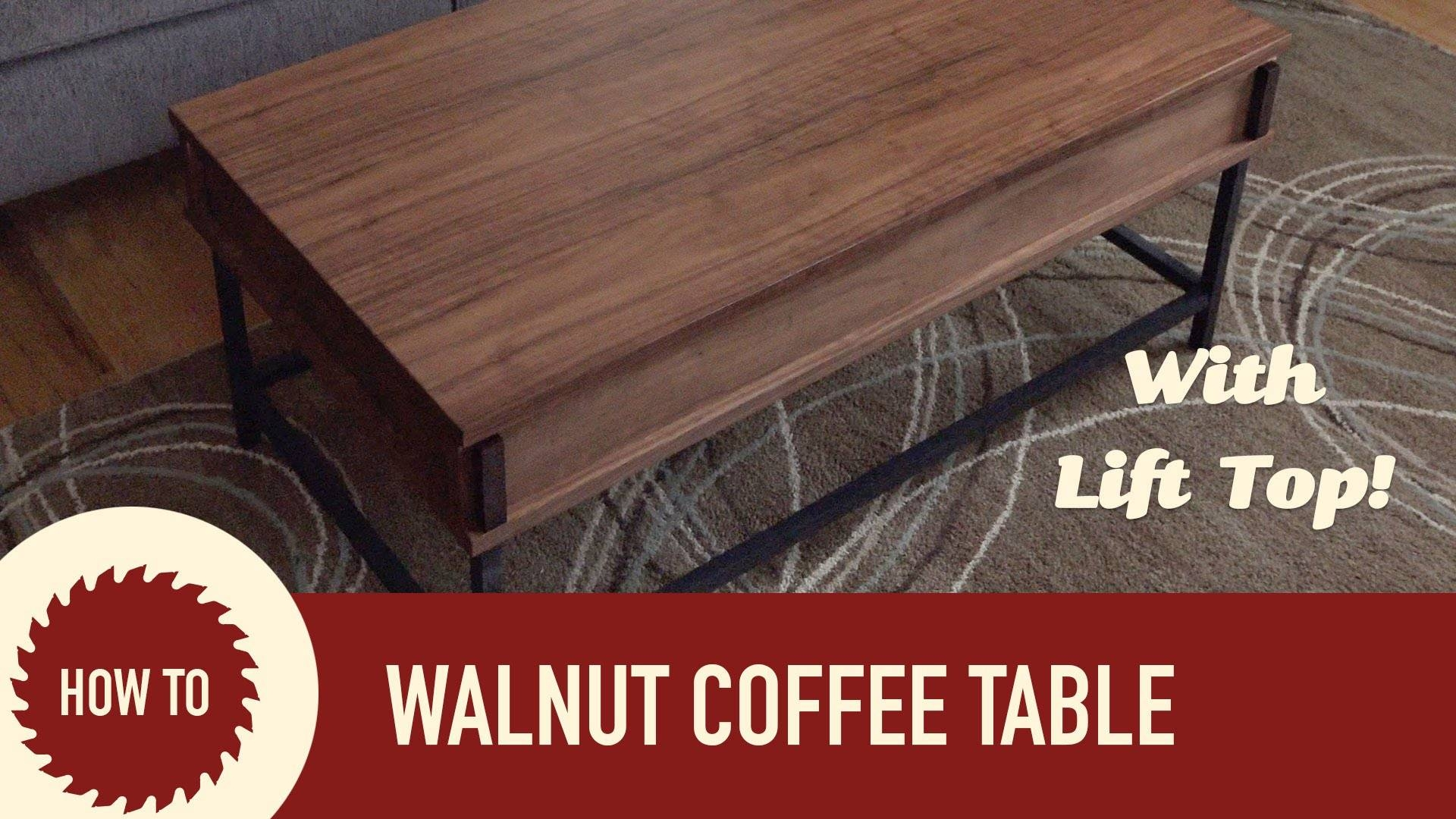 Easy To Make Coffee Table With Lift Up Top   Youtube Pertaining To Coffee Tables With Lift Up Top (Photo 28 of 30)