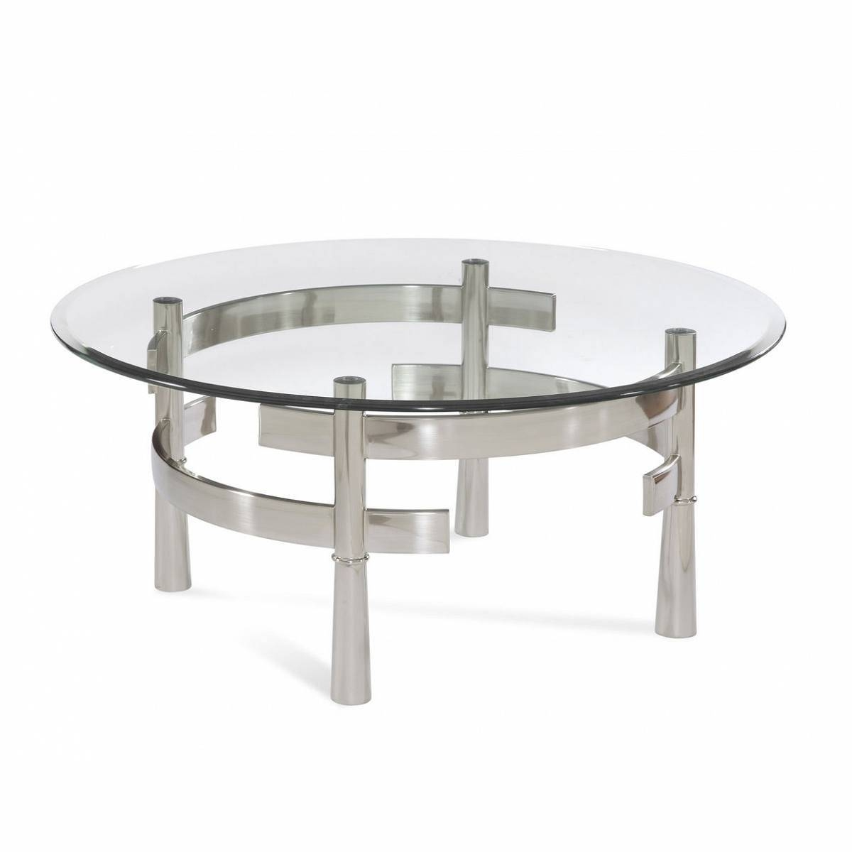 Ebonized Round Occasional Or Coffee Table With Antique Silvered with regard to Round Mirrored Coffee Tables (Image 8 of 30)