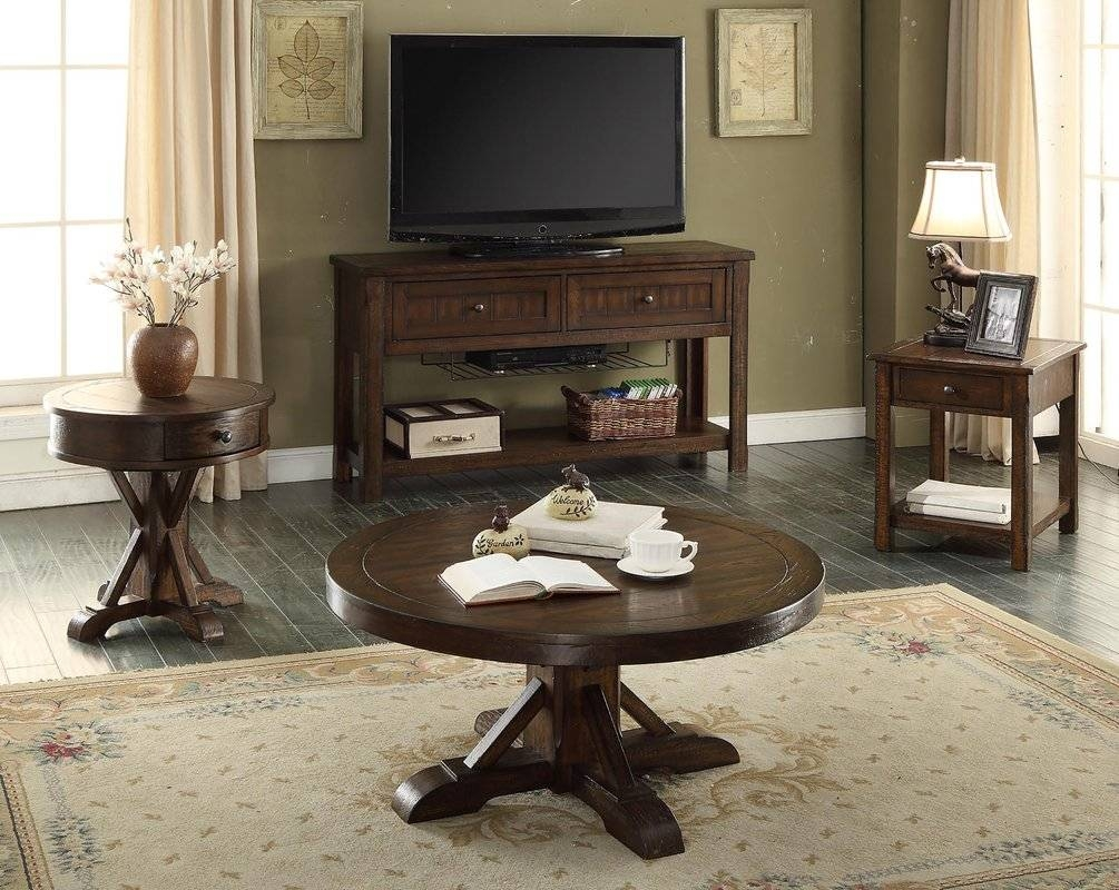 Eci Furniture Gettysburg Coffee Table Set & Reviews | Wayfair regarding Coffee Table With Chairs (Image 20 of 30)
