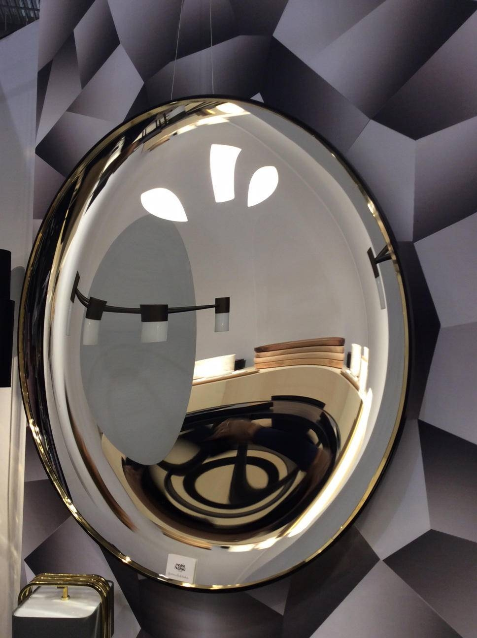Eclipse Black Convex Mirror - Mirrors From Martin Huxford Studio throughout Black Convex Mirrors (Image 5 of 25)