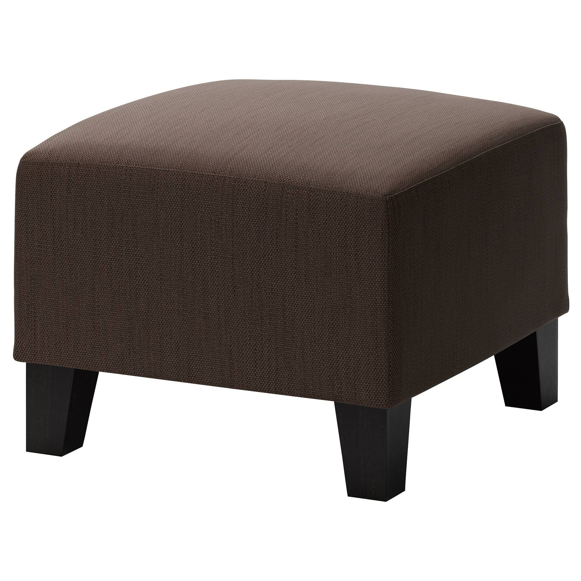 Ekenäs Footstool Hensta Dark Brown - Ikea with Footstools And Pouffes (Image 4 of 30)