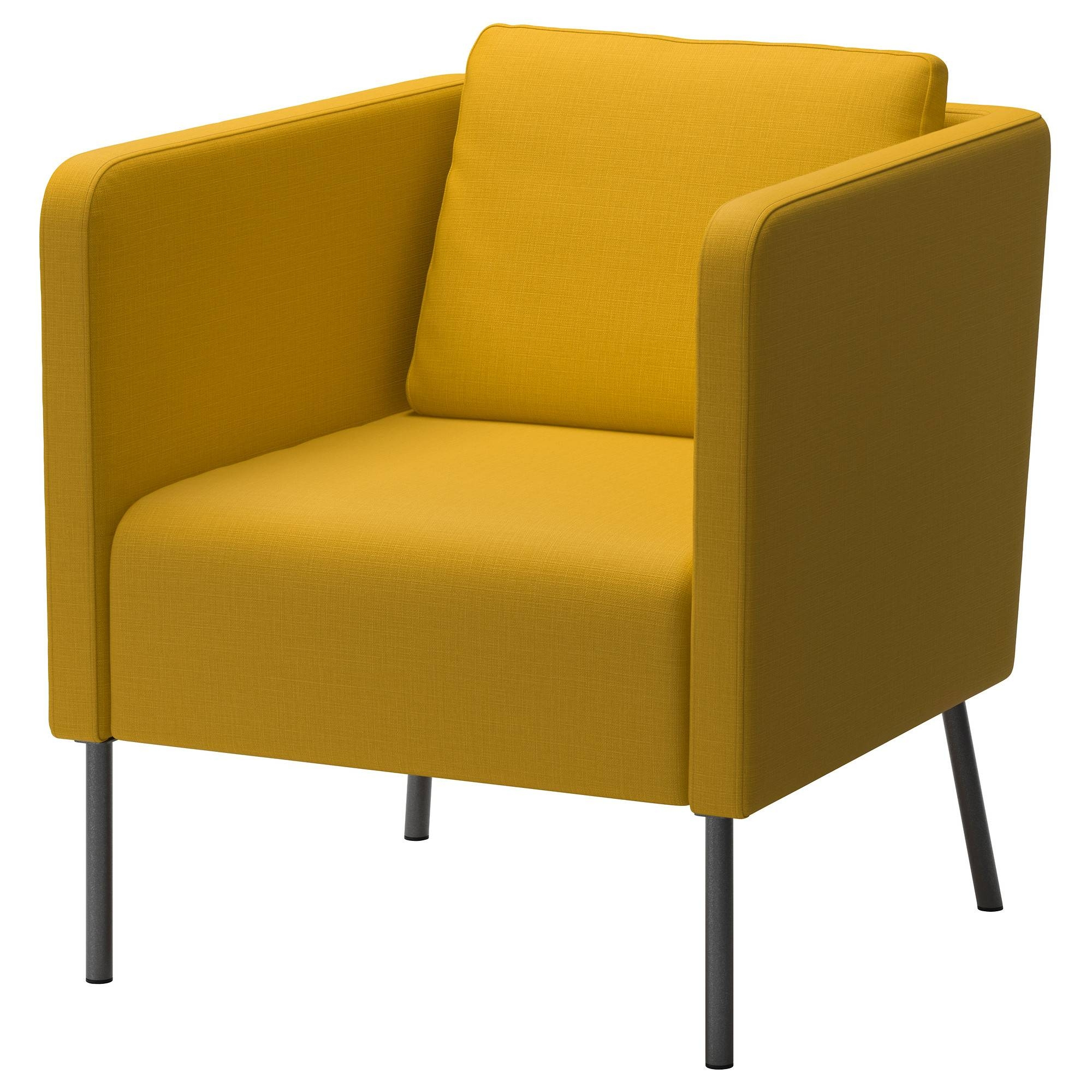 Ekerö Armchair - Skiftebo Yellow - Ikea within Yellow Sofa Chairs (Image 13 of 30)