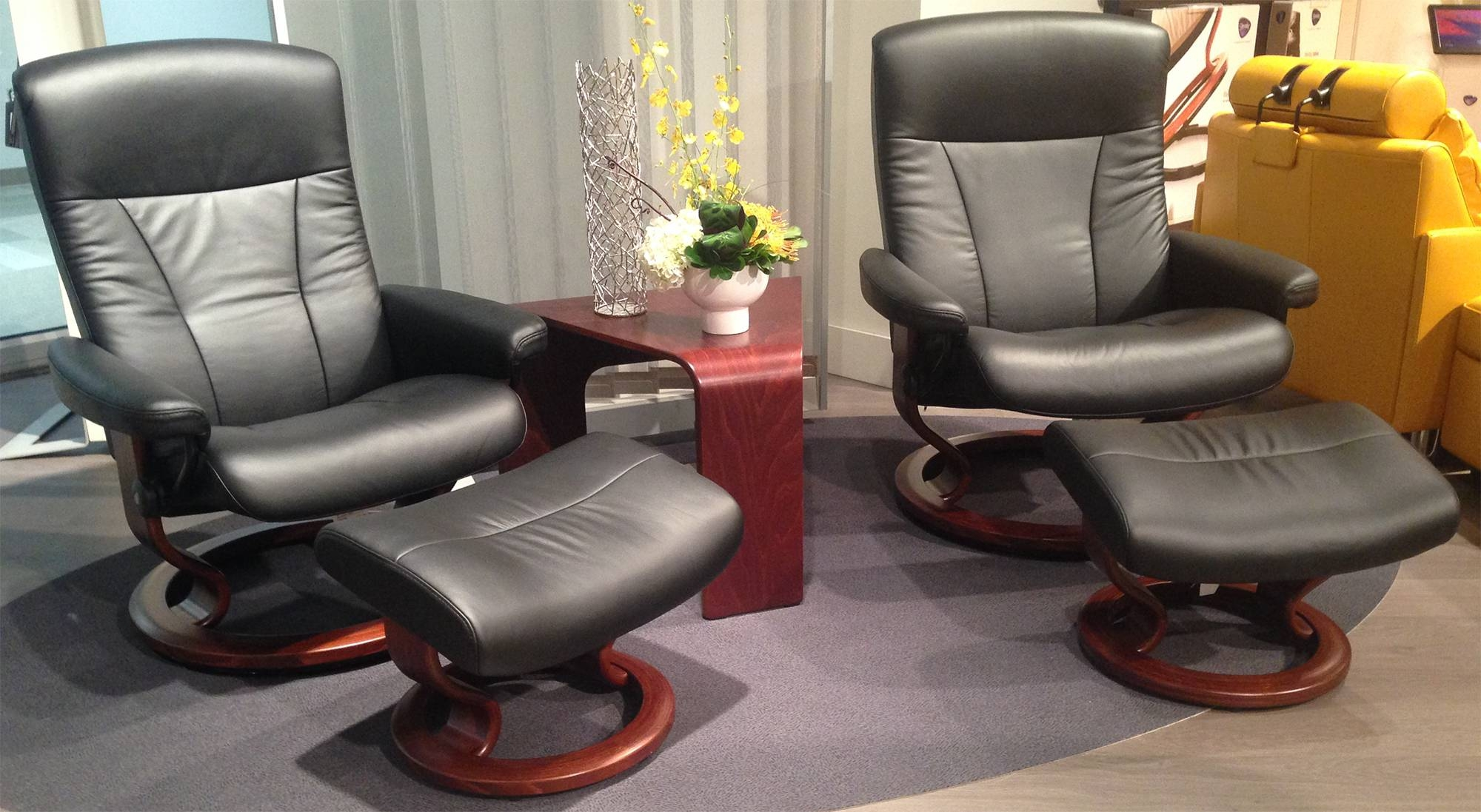 Ekornes Stressless President Large And Medium Recliner Chair intended for Ergonomic Sofas And Chairs (Image 9 of 30)
