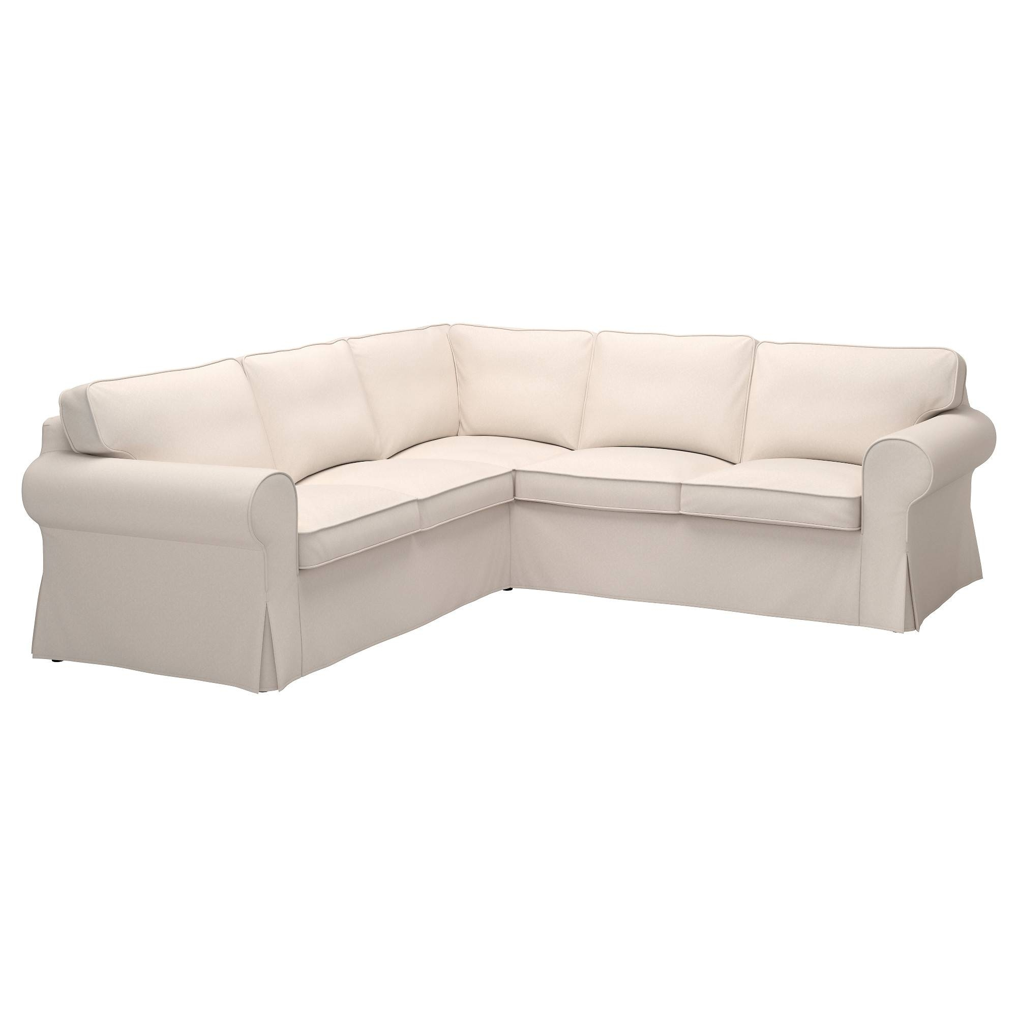 Ektorp Cover For 4-Seat Corner Sectional - Lofallet Beige - Ikea pertaining to 2X2 Corner Sofas (Image 7 of 30)