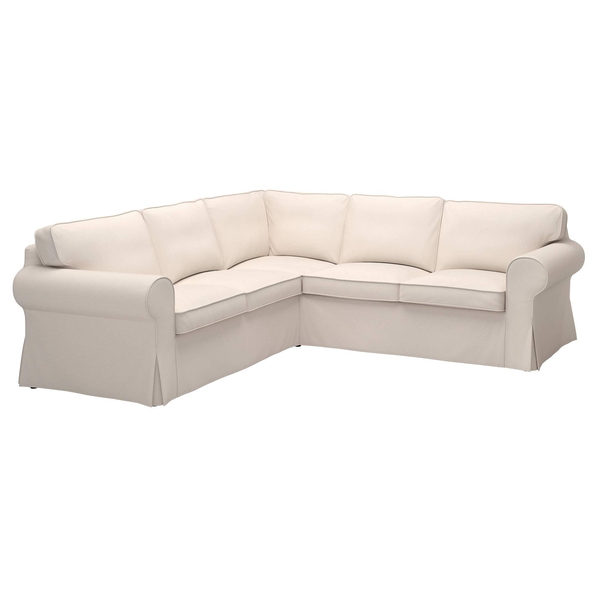 Ektorp Cover For 4-Seat Corner Sectional - Lofallet Beige - Ikea pertaining to 2X2 Corner Sofas (Image 7 of 30)
