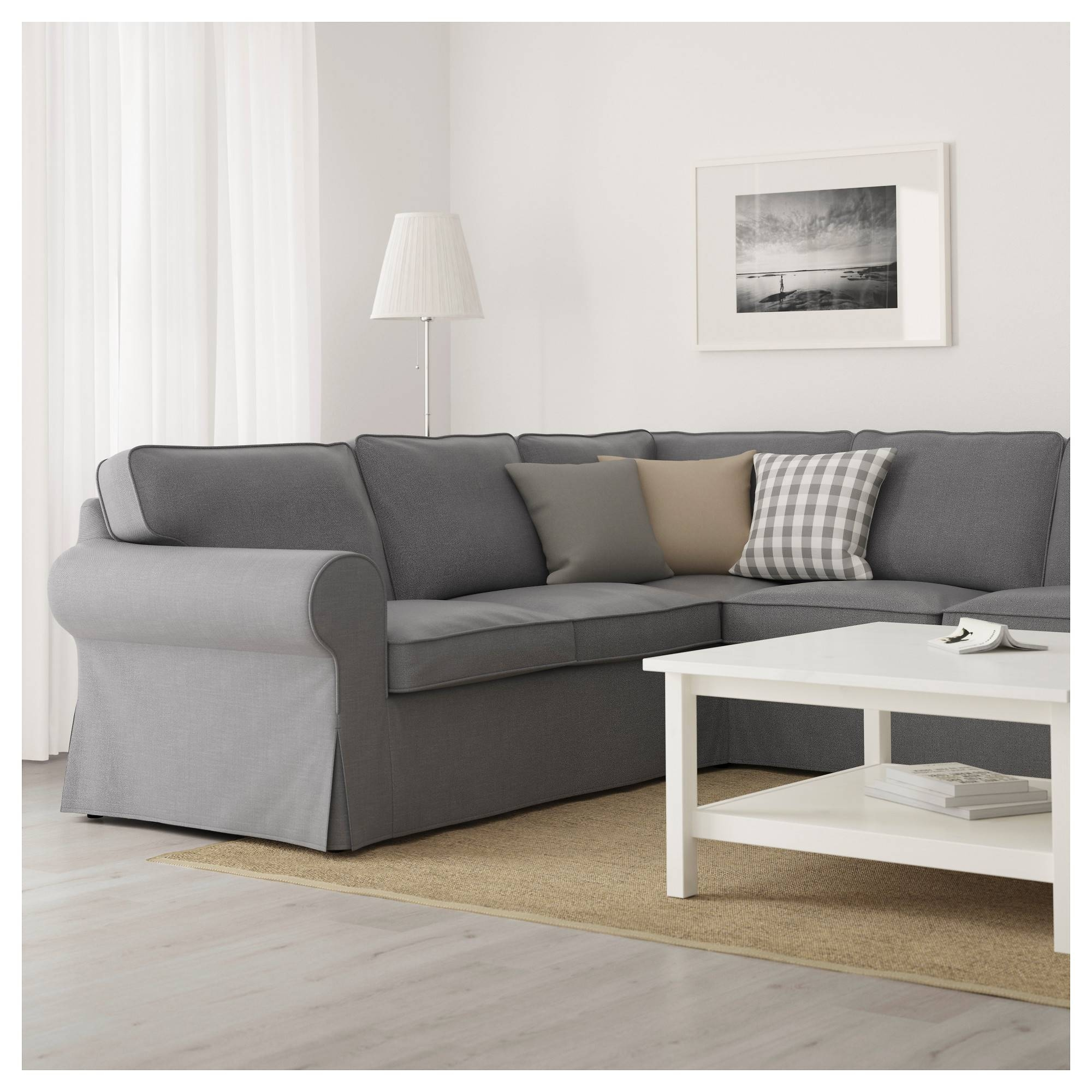 Ektorp Sectional, 4-Seat Corner - Lofallet Beige - Ikea within 4 Seat Couch (Image 12 of 30)