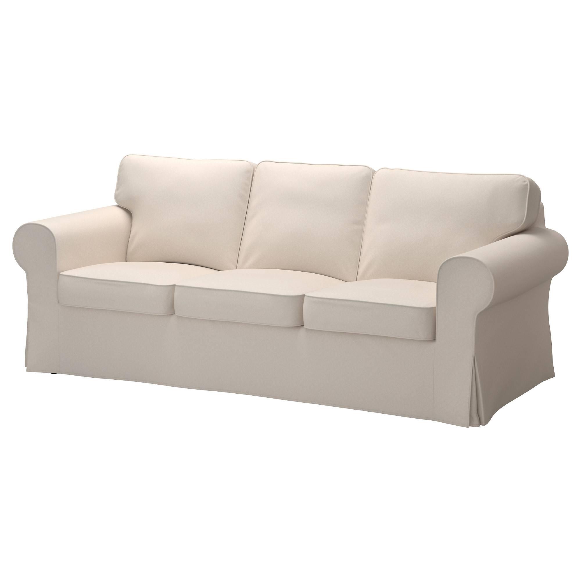 Ektorp Sofa Cover - Nordvalla Dark Gray - Ikea throughout White Fabric Sofas (Image 10 of 30)
