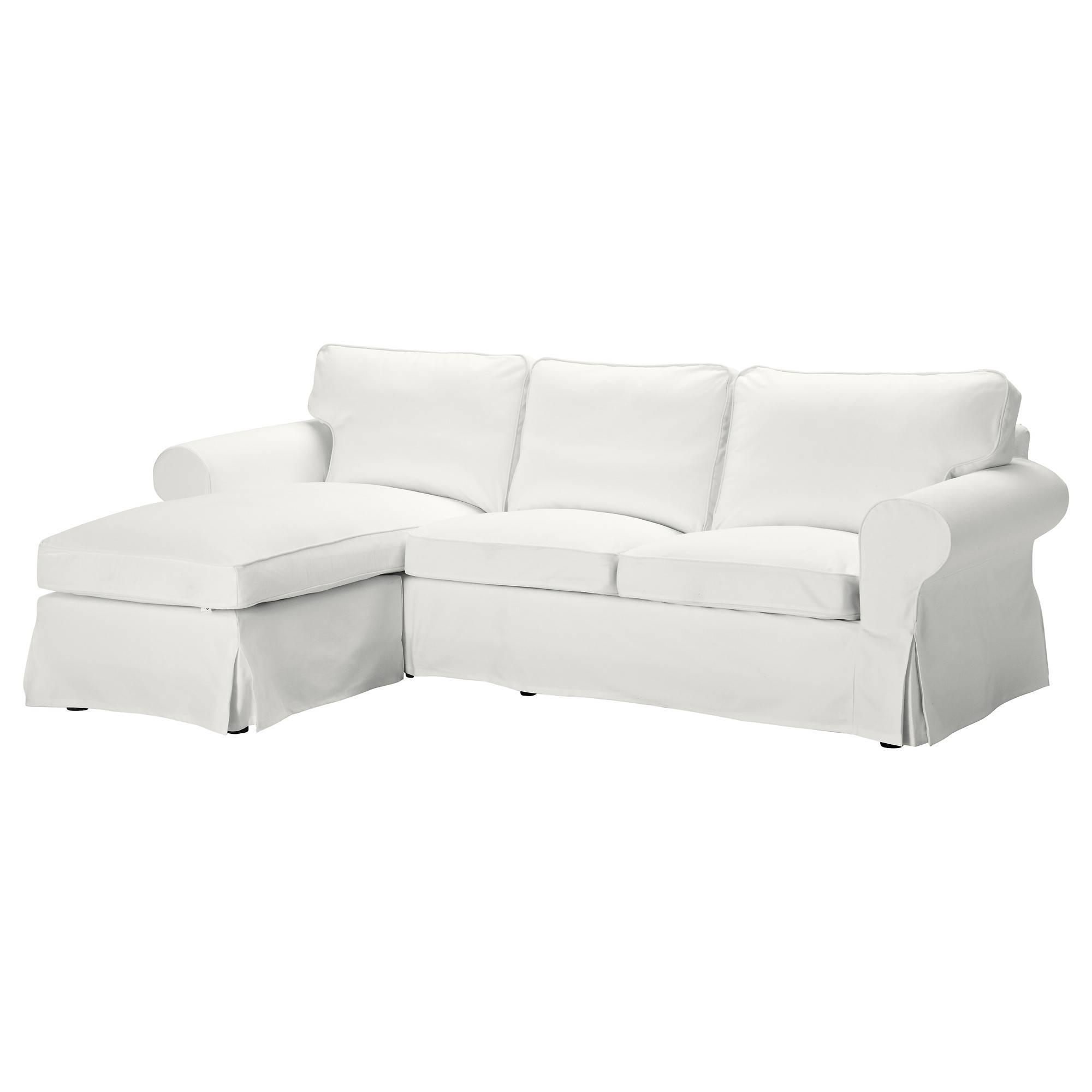 Ektorp Two-Seat Sofa And Chaise Longue Blekinge White - Ikea in Ikea Chaise Lounge Sofa (Image 8 of 30)