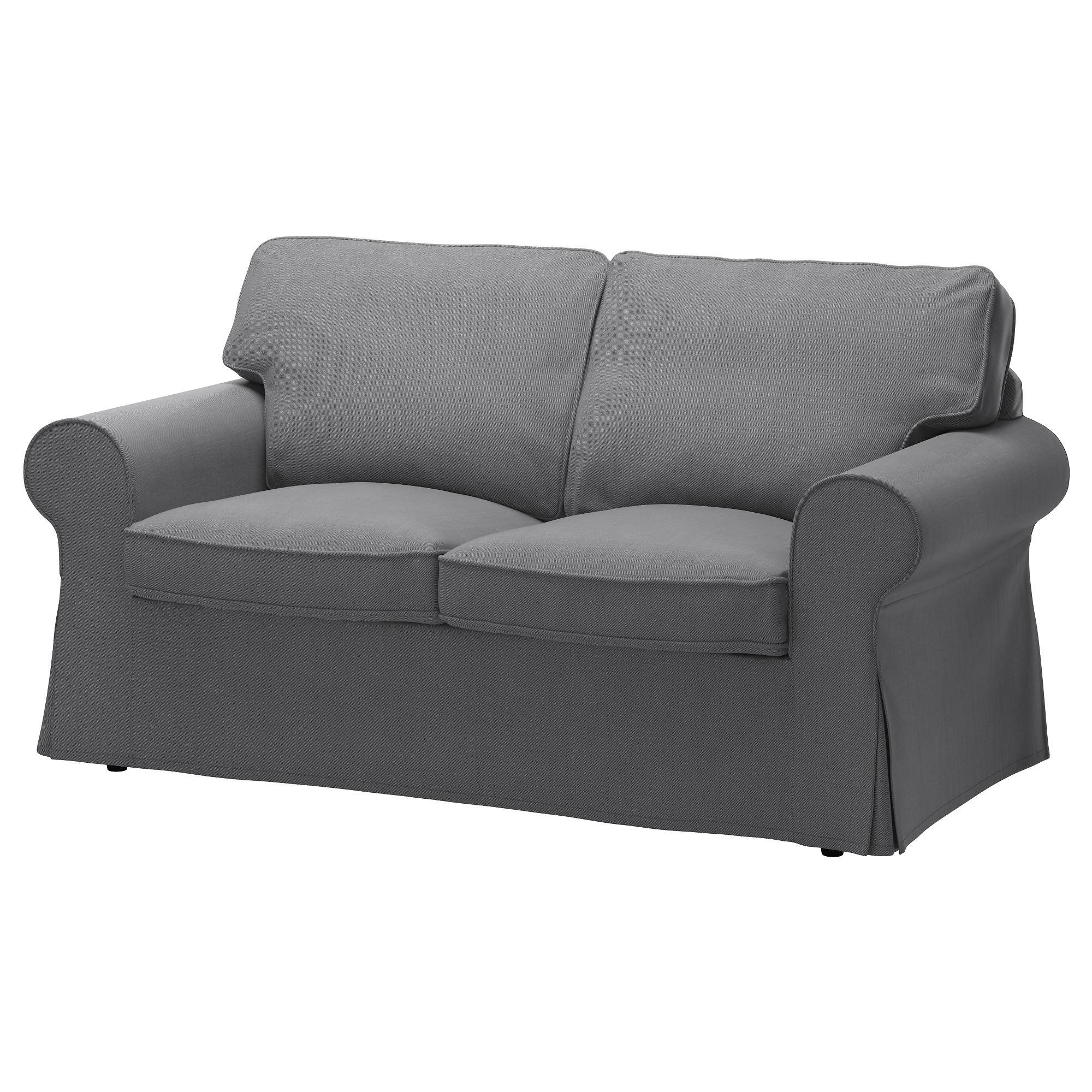 Ektorp Two-Seat Sofa Nordvalla Dark Grey - Ikea in Two Seater Chairs (Image 7 of 30)