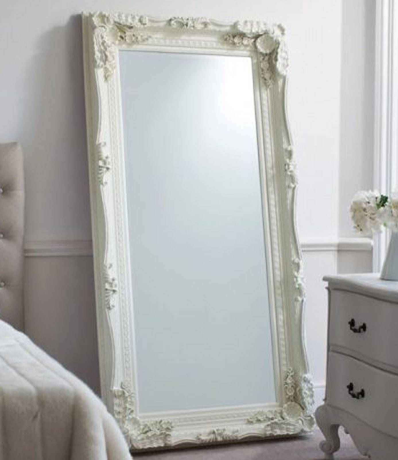 Elaborate French Style Cream Ornate Mirror 90Cm X 175Cm | Framed with regard to Cream Ornate Mirrors (Image 5 of 25)
