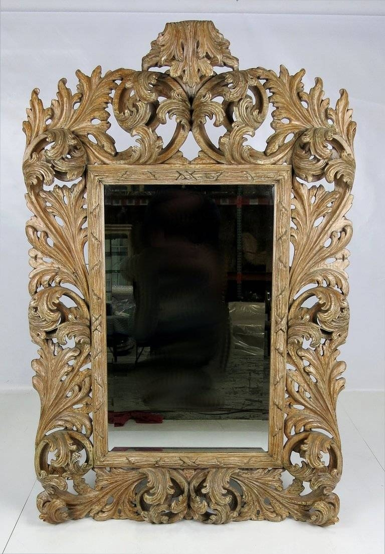 Elaborately Carved Rococo Mirror For Sale At 1Stdibs in Rococo Mirrors (Image 10 of 25)