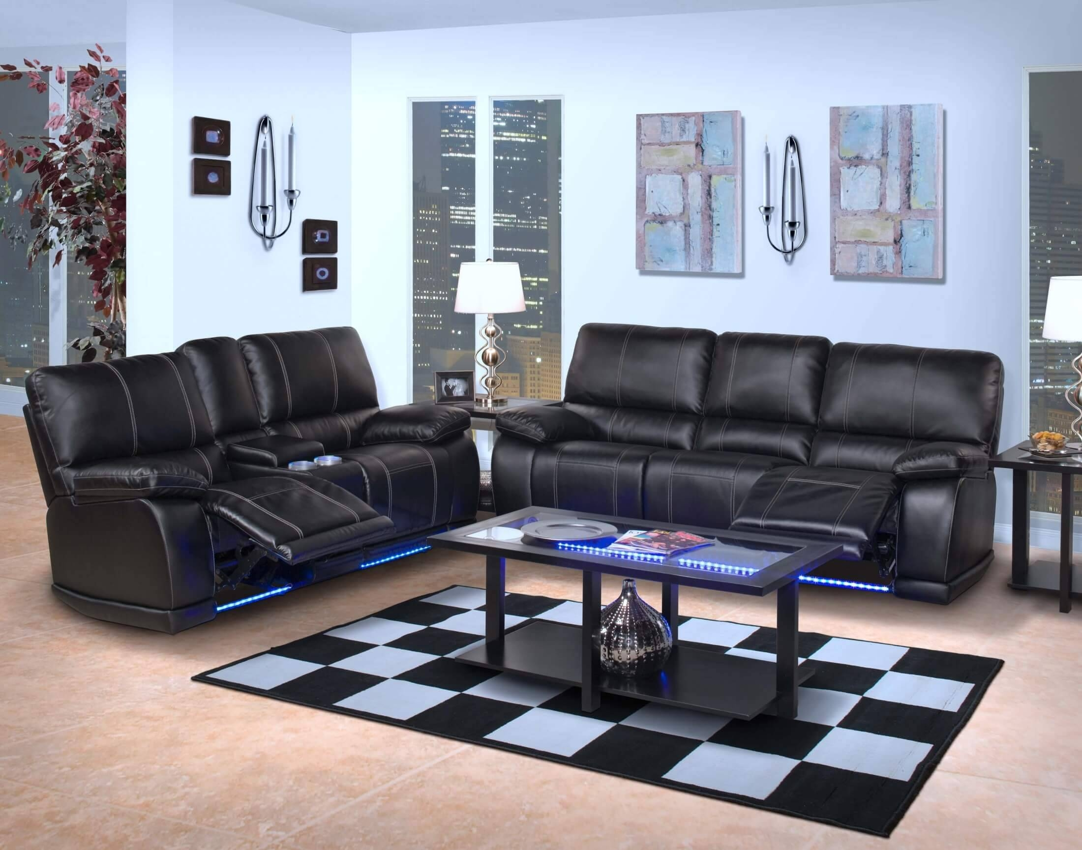 Electra Power Reclining Sectional With Led Lights with Sofas With Lights (Image 15 of 30)
