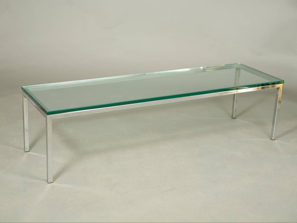 Elegance Chrome Coffee Table Design Idea – Contemporary Glass And inside Chrome Coffee Table Bases (Image 17 of 30)