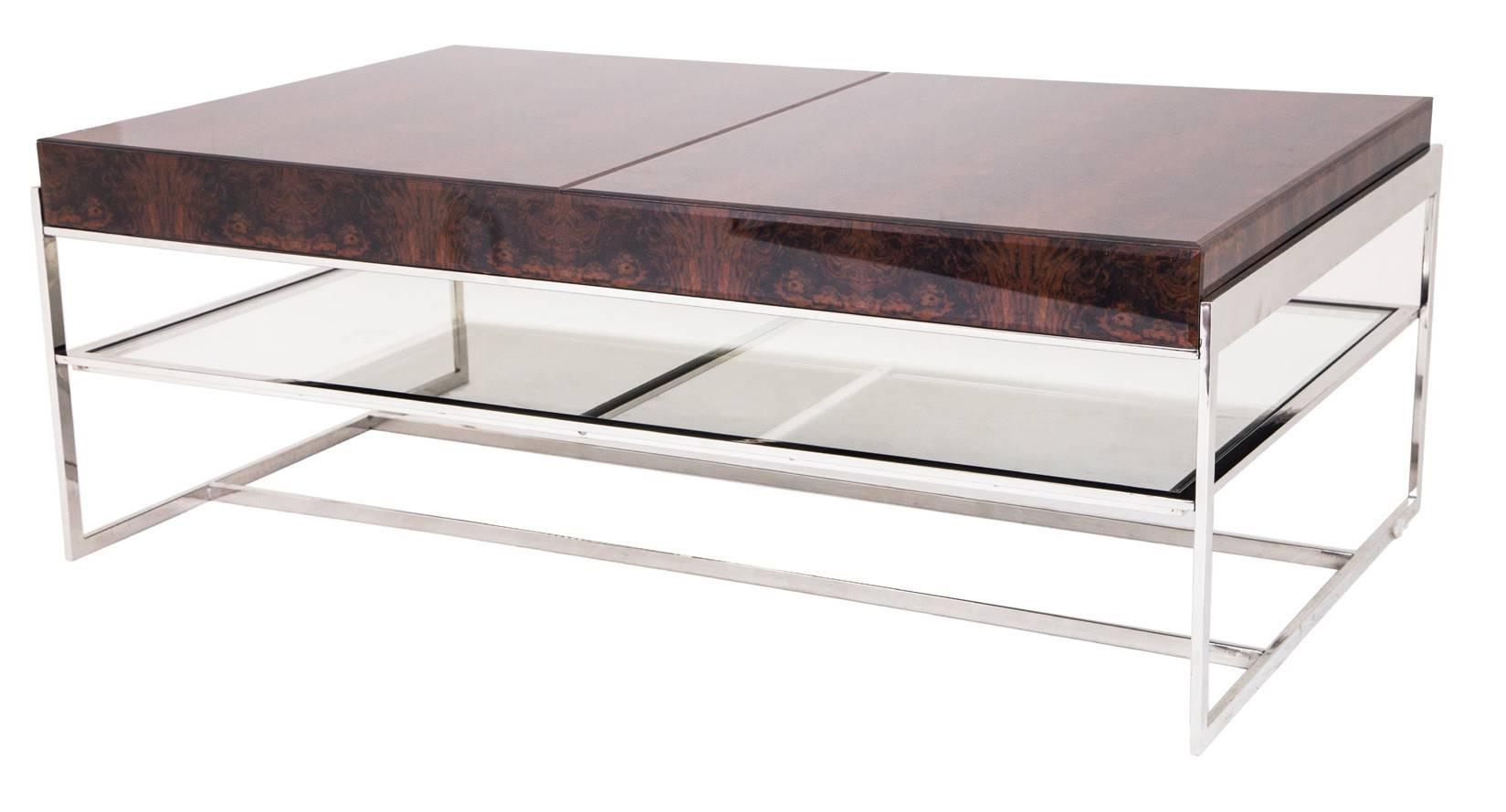 Elegance Chrome Coffee Table Design Idea – Contemporary Glass And with Glass Chrome Coffee Tables (Image 9 of 30)