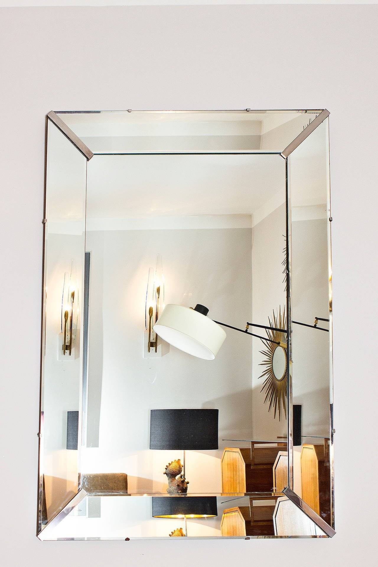 Elegant Art Deco Wall Mirror, France Circa 1940 At 1Stdibs for Art Deco Wall Mirrors (Image 13 of 25)
