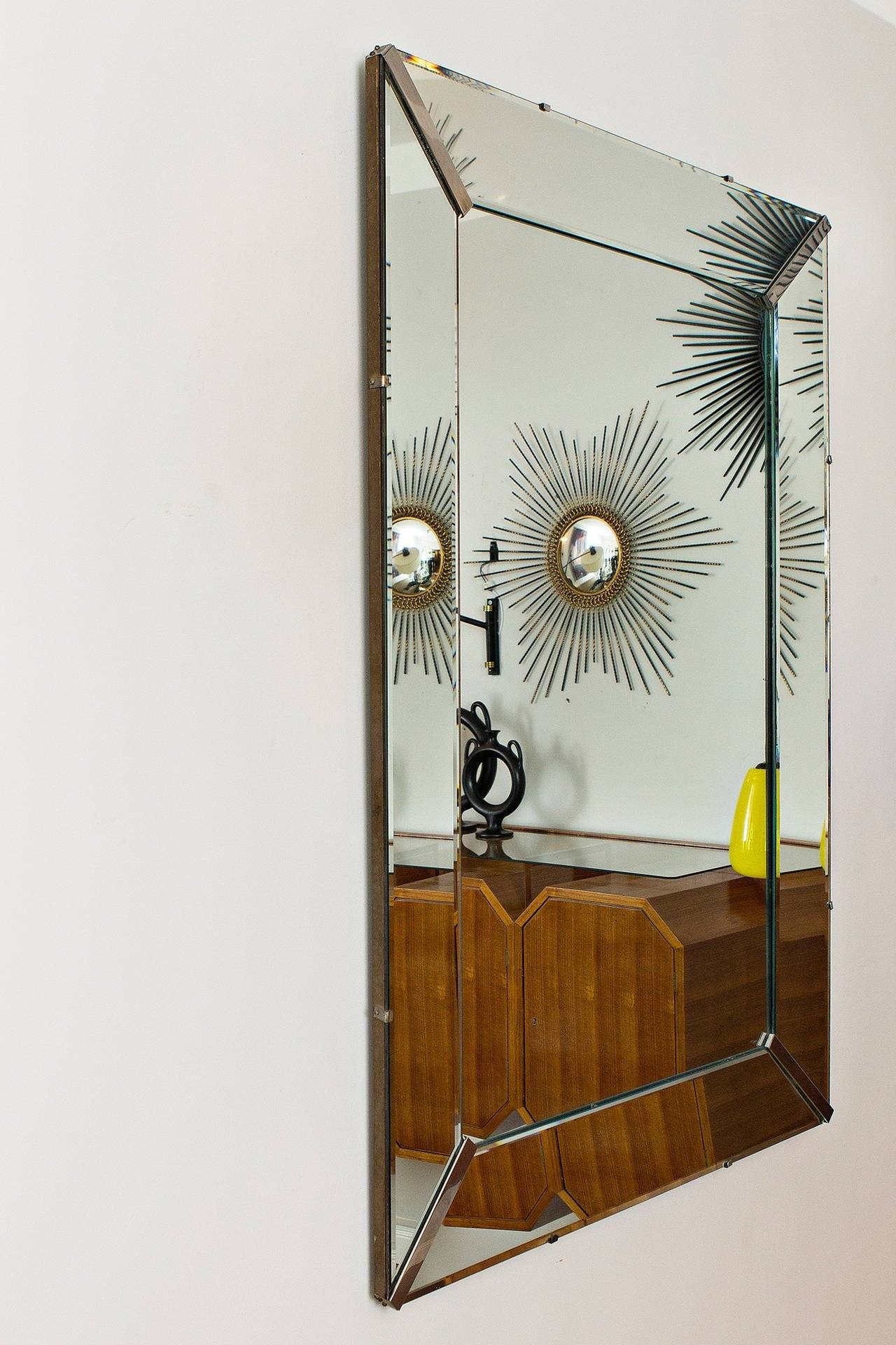 Elegant Art Deco Wall Mirror, France Circa 1940 At 1Stdibs regarding Art Deco Wall Mirrors (Image 15 of 25)