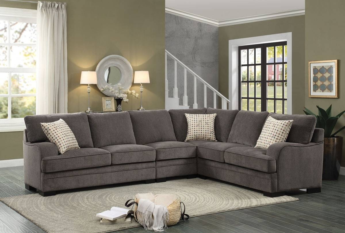 Elegant Chenille Sectional Sofa 96 For Sofas And Couches Ideas in Chenille Sectional Sofas (Image 9 of 30)