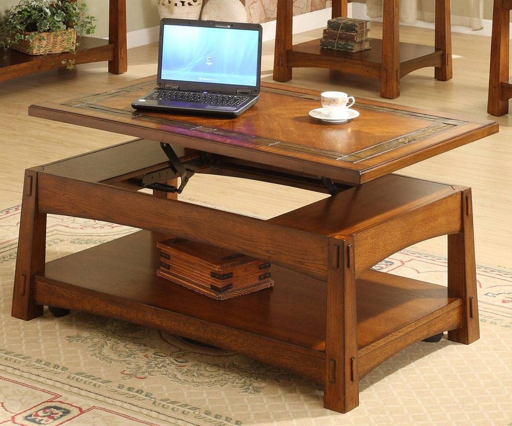 Elegant Coffee Table With Lift Top | Home Designjohn in Lifting Coffee Tables (Image 11 of 30)