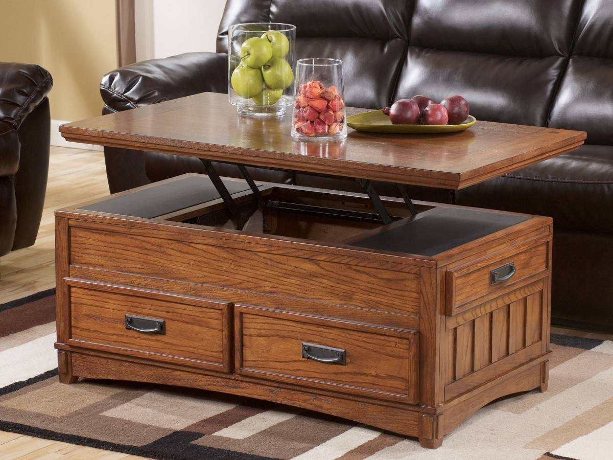 Elegant Coffee Table With Lift Top | Home Designjohn inside Hinged Top Coffee Tables (Image 10 of 30)