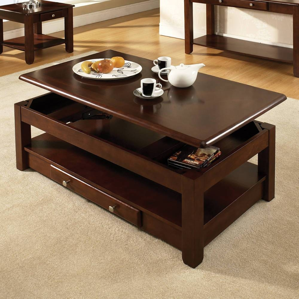 Elegant Coffee Table With Lift Top | Home Designjohn within Coffee Tables With Lift Top Storage (Image 15 of 30)