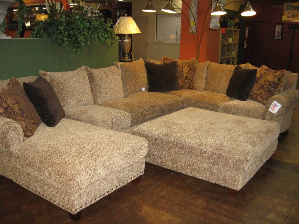 Elegant Large Sectional Sofa With Ottoman 52 With Additional Intended For Sectional Sofa With Large Ottoman (View 4 of 30)