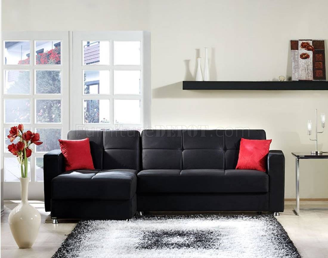 Elegant-Rainbow Storage Sectional Sofa In Blacksunset with Elegant Sectional Sofas (Image 12 of 30)
