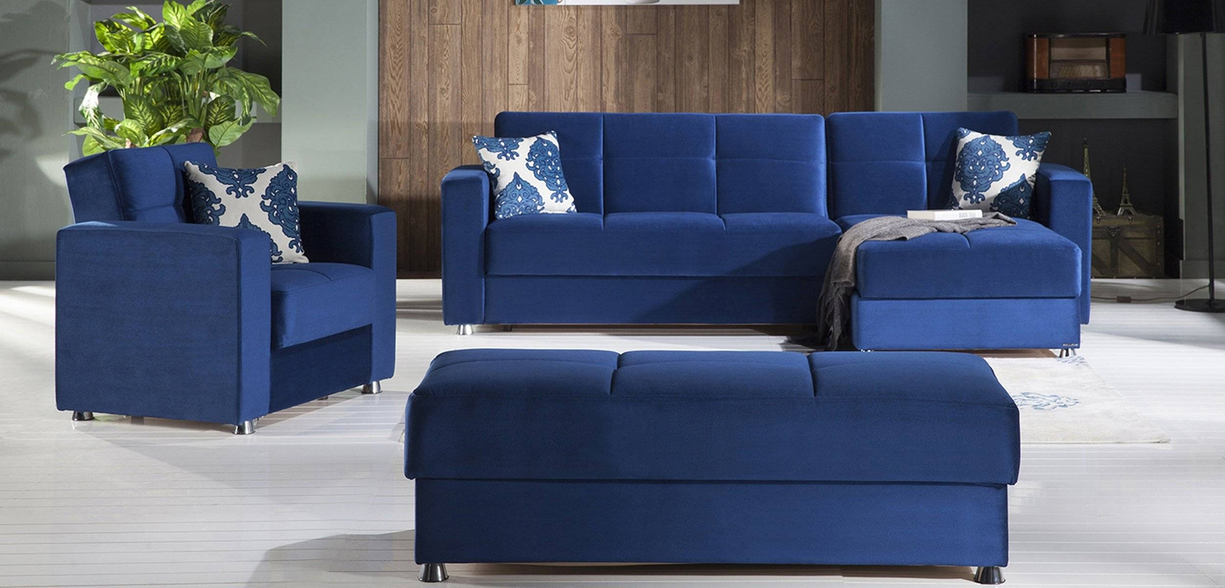 Elegant Roma Navy Sectional Sofasunset regarding Elegant Sectional Sofa (Image 7 of 25)