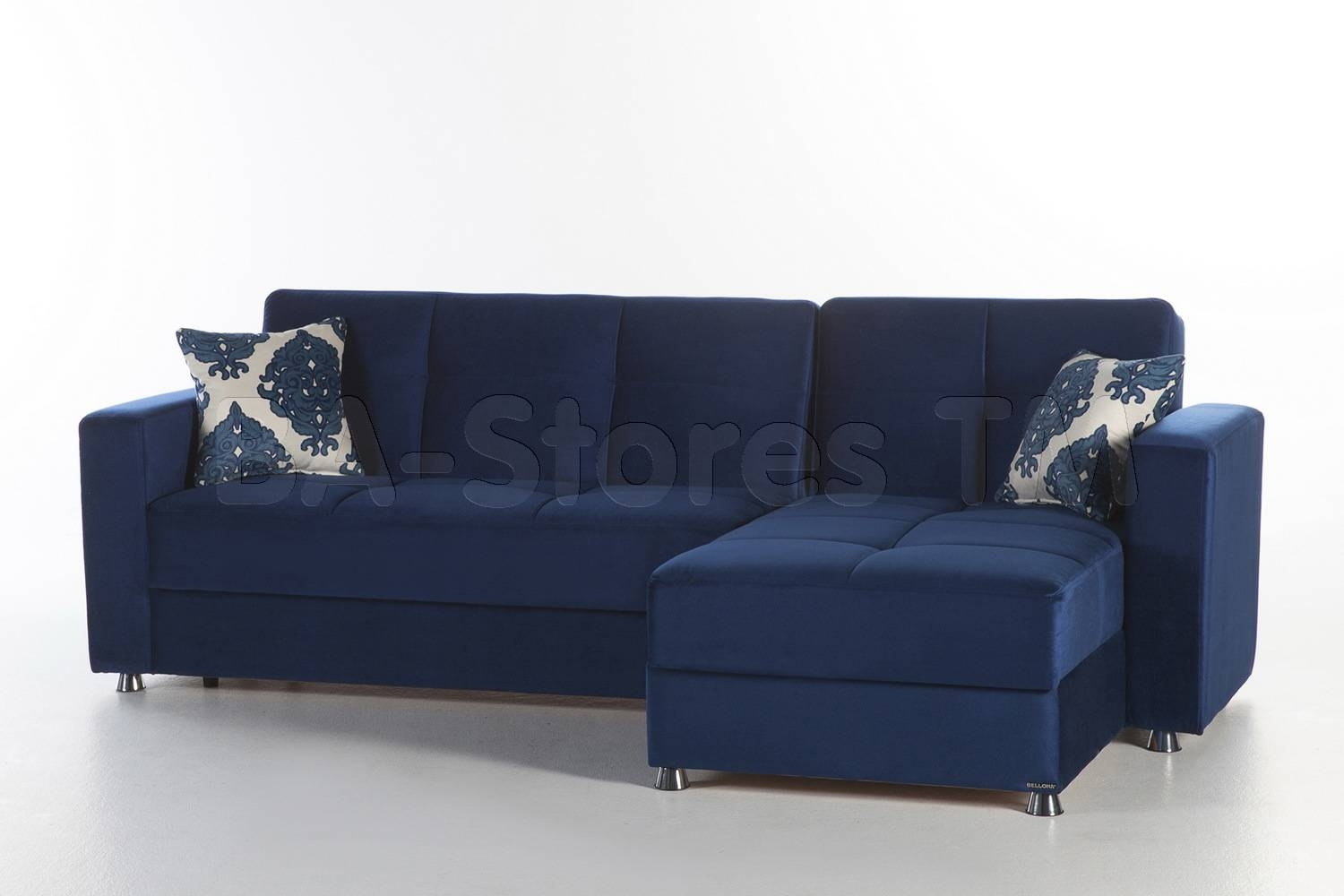 Elegant Sectional Sofa | Roma Navy | Sectional Sofas 10-Ele-N839D within Elegant Sectional Sofa (Image 12 of 25)