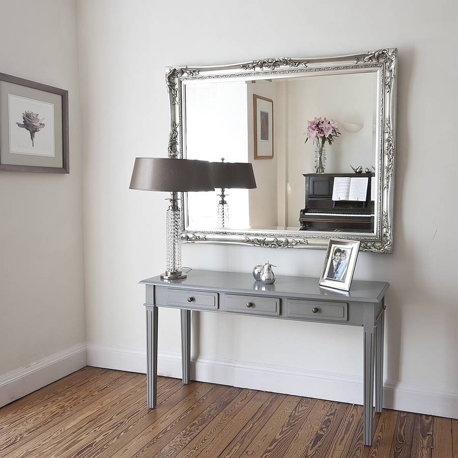 Elegant Silver Mirrordecorative Mirrors Online intended for Silver Mirrors (Image 4 of 25)