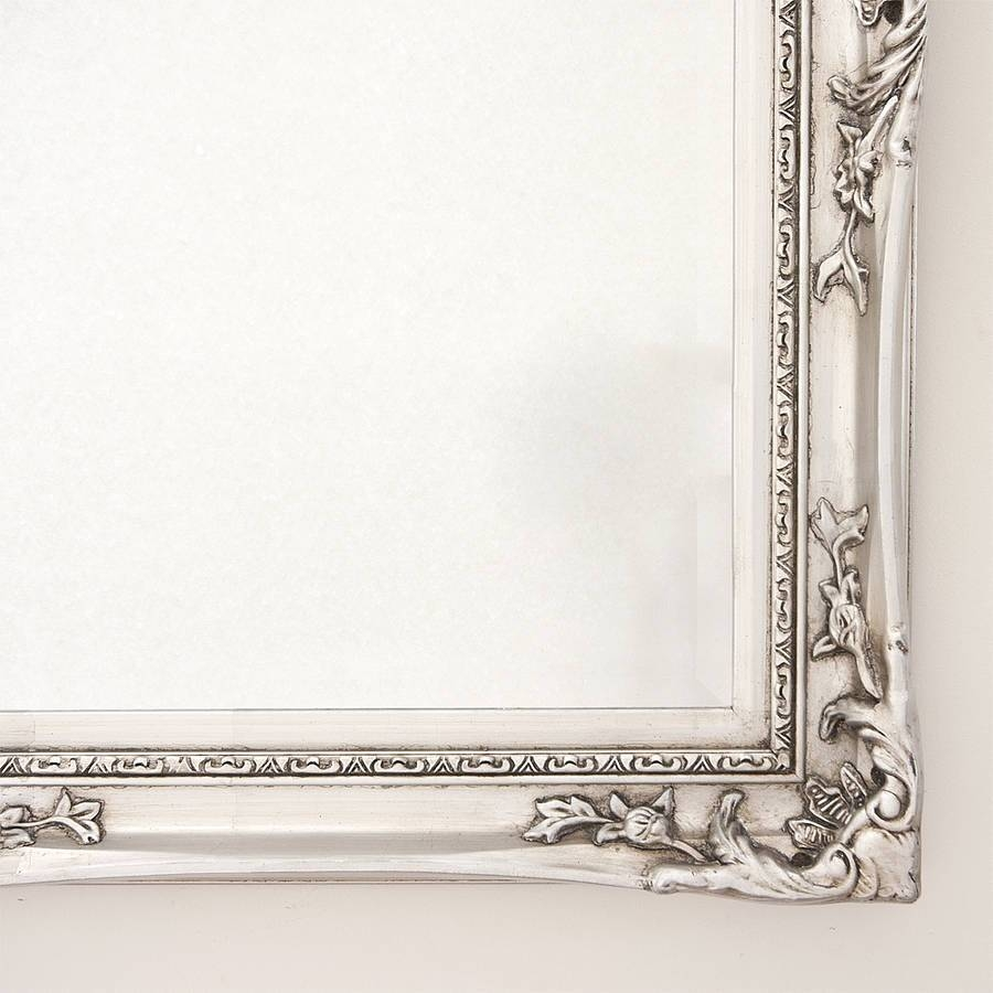 Elegant Silver Mirrordecorative Mirrors Online within Silver Mirrors (Image 5 of 25)