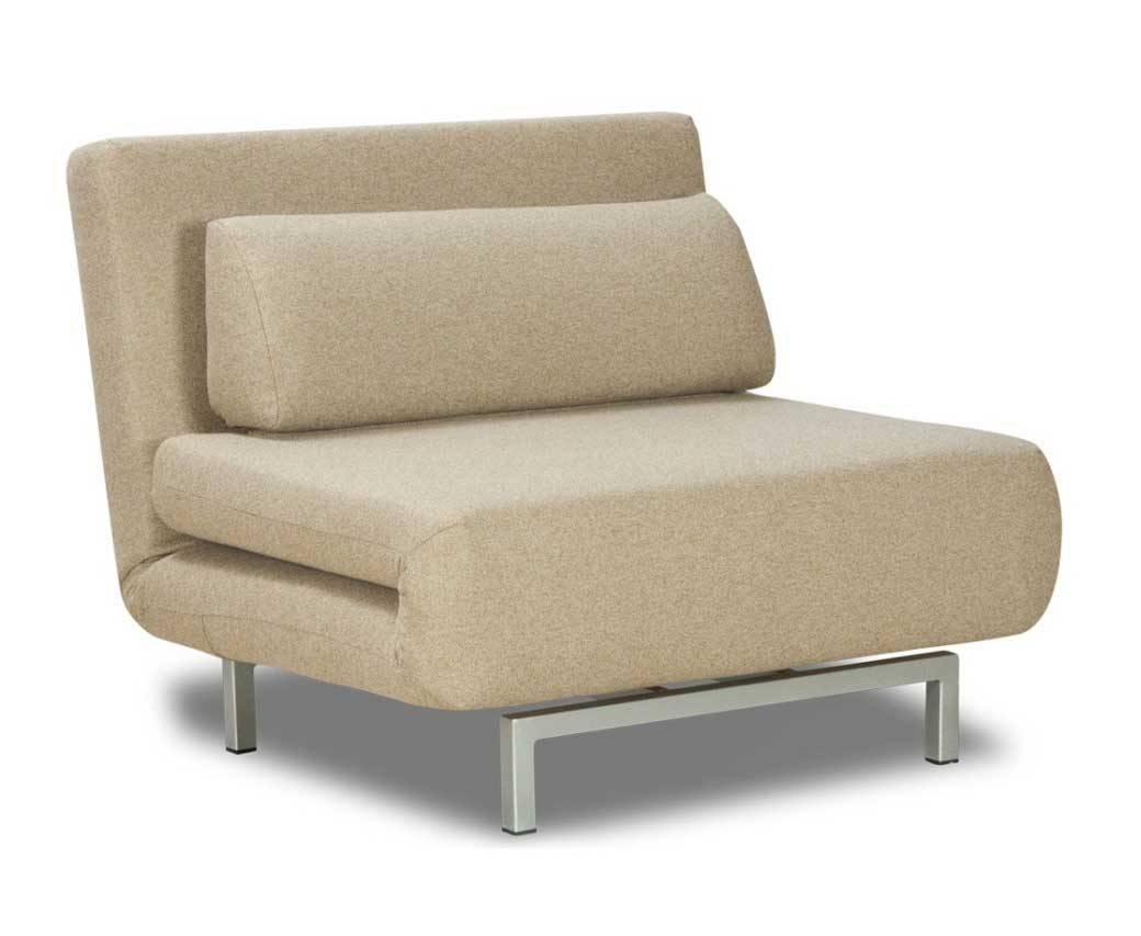 Elegant Single Sofa Bed Chair With Light Grey Color | Home with regard to Single Chair Sofa Beds (Image 10 of 30)