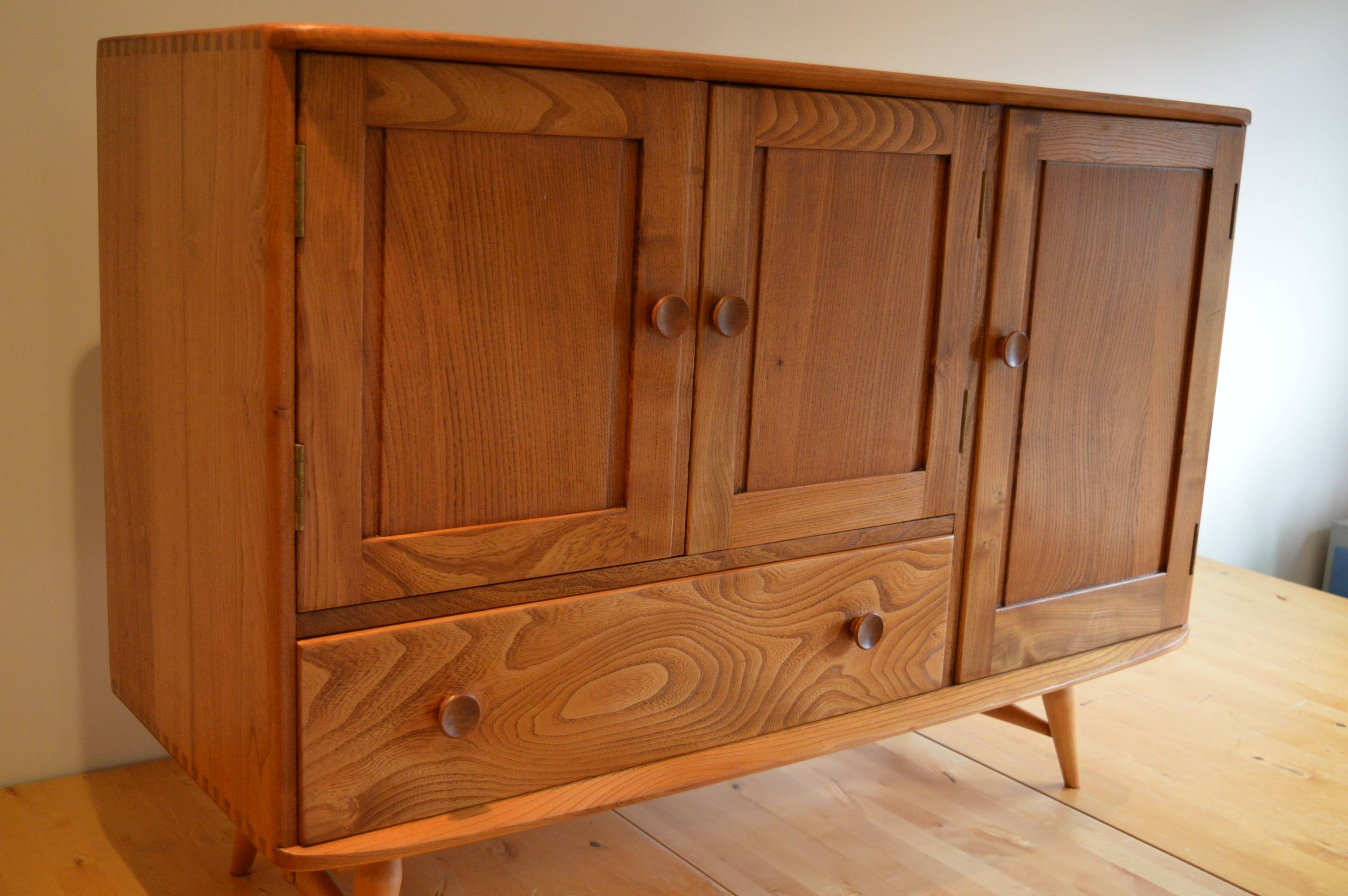 Elegant Vintage Ercol 366 Elm & Beech Sideboard From 1950S - The inside Beech Sideboards (Image 15 of 30)
