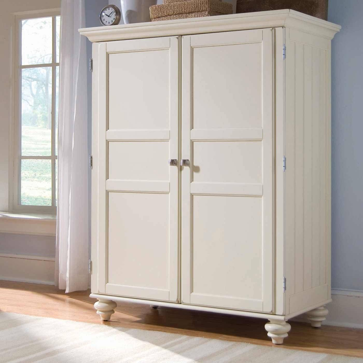 Elegant White Armoire — Liberty Interior throughout Cheap White Wardrobes (Image 4 of 15)