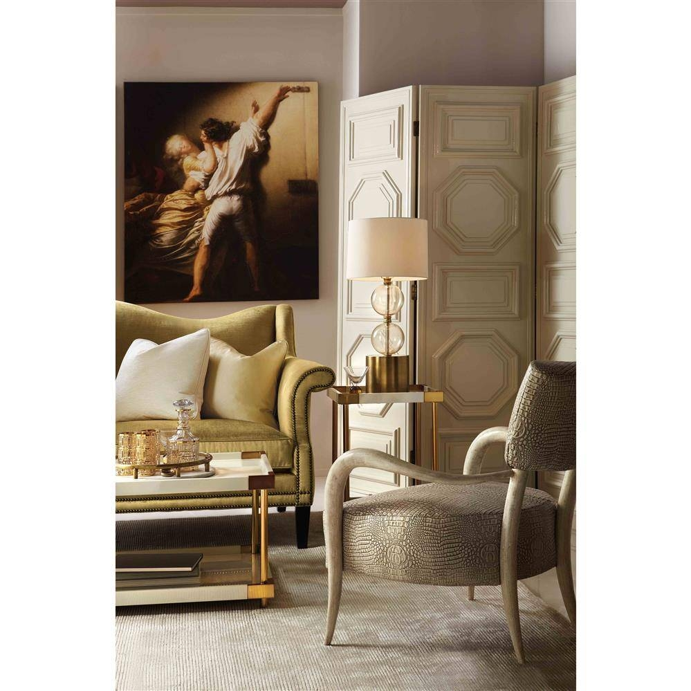 Elena Hollywood Regency Ivory Lacquer Brass Coffee Table | Kathy for Elena Coffee Tables (Image 18 of 30)