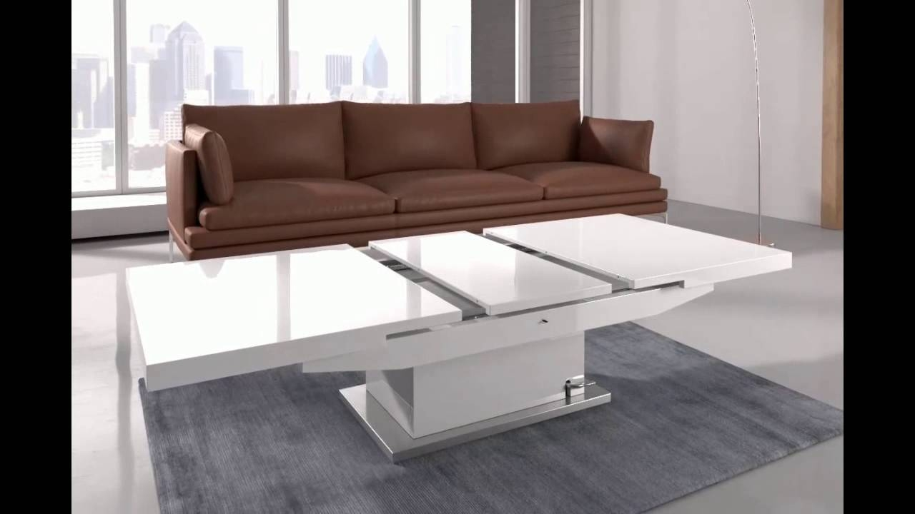 Elgin Coffee Table That Also Converts To A Dining Table In W - Youtube in Dining Coffee Tables (Image 6 of 15)