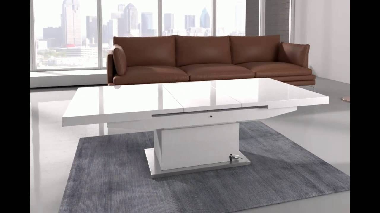 Elgin Coffee Table That Also Converts To A Dining Table In W – Youtube Within Coffee Table Dining Table (View 9 of 30)