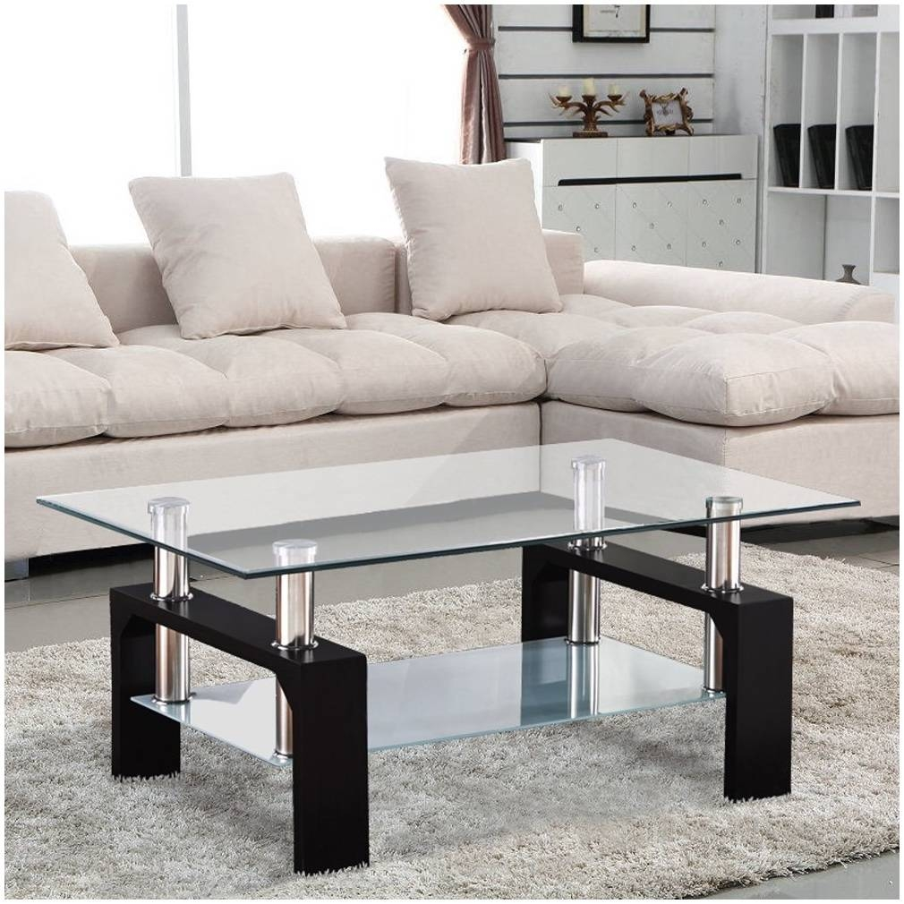 Elise Clear Glass Coffee Tables – Cocinacentral.co pertaining to Elise Coffee Tables (Image 7 of 30)