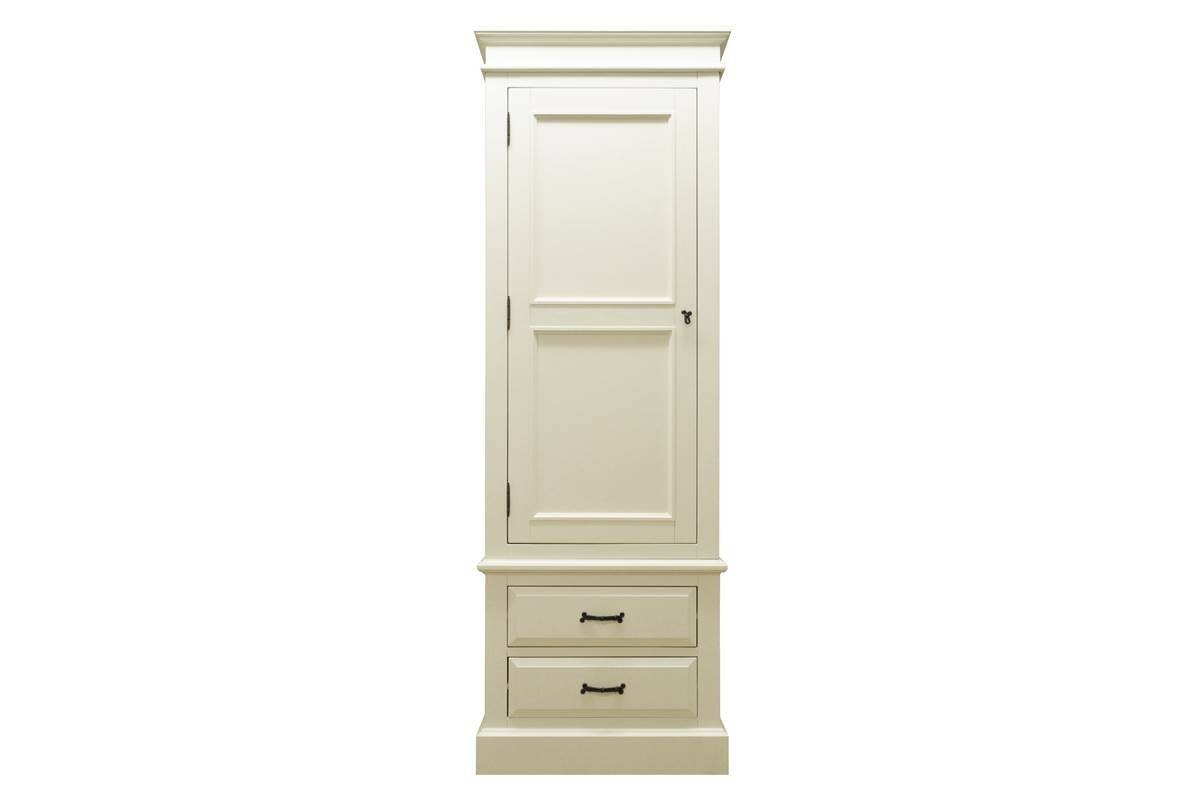 Elizabeth Cream Single Wardrobe – Wardrobes – Bedroom Furniture Within Cream Single Wardrobes (View 5 of 15)