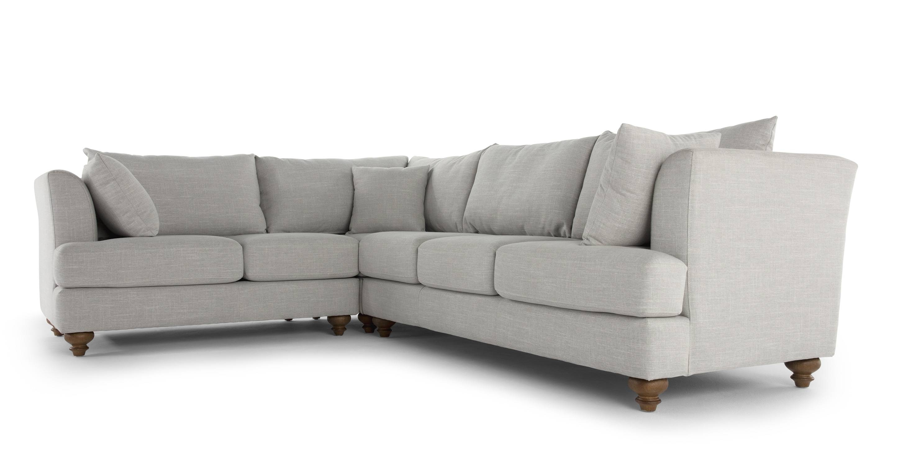 Elliot Corner Sofa, Chic Grey | Made inside Elliott Sofa (Image 15 of 30)