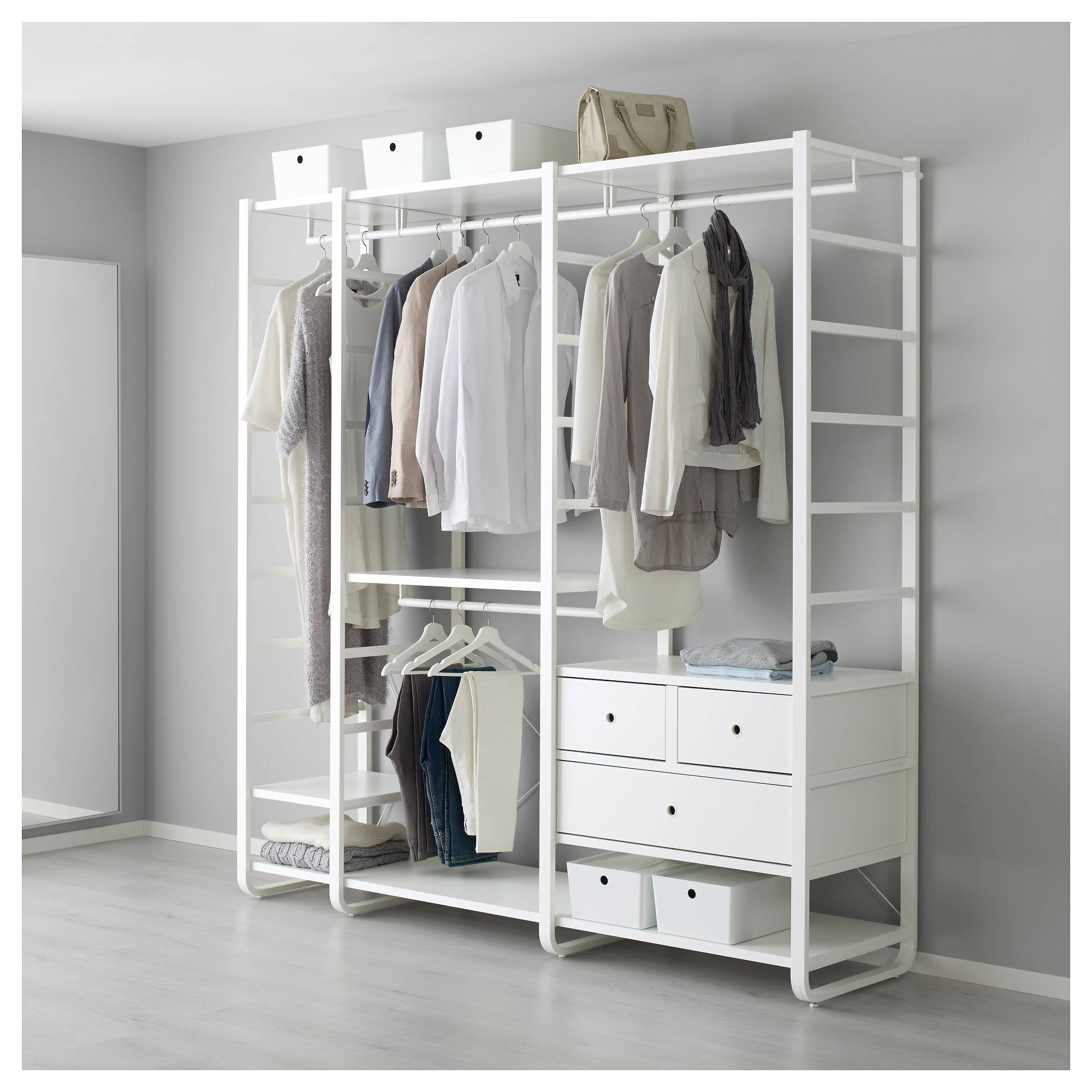 Elvarli System - Side Unit Combinations - Ikea pertaining to Wardrobe Drawers and Shelves Ikea (Image 10 of 30)