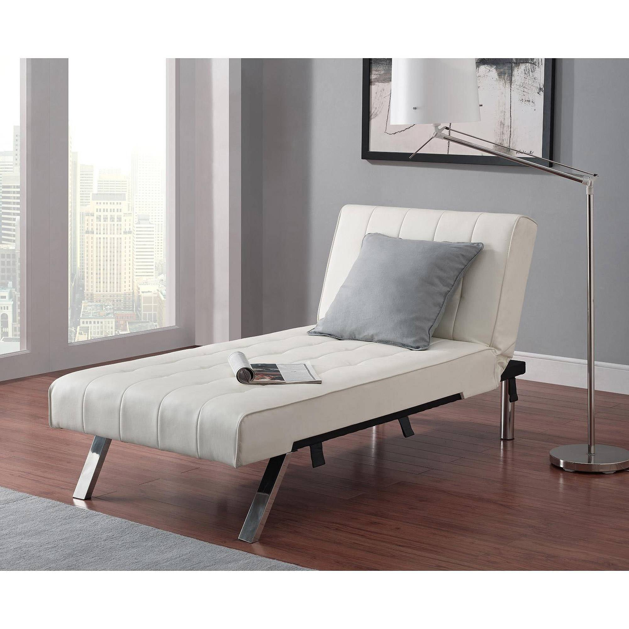 Emily Futon Chaise Lounger, Multiple Colors - Walmart inside Sectional Sofas With Sleeper and Chaise (Image 11 of 30)