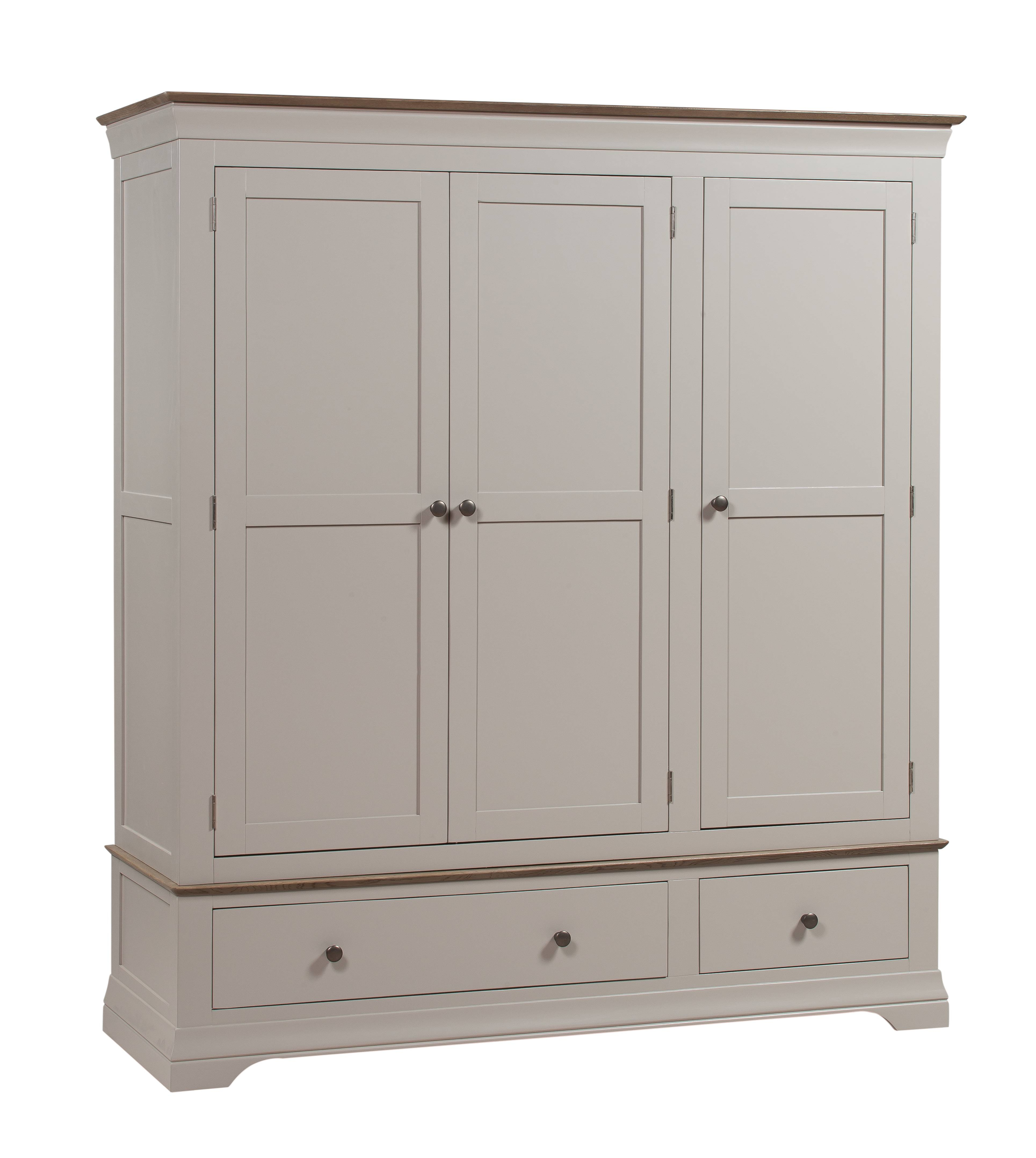 Emsworth Grey Painted | Oak Furniture Solutions in Grey Painted Wardrobes (Image 4 of 15)